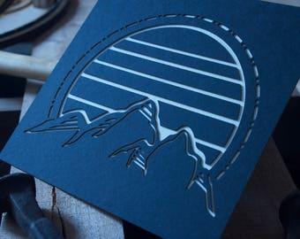 Laser Cut Paper Cut Out Mountains