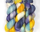 Krokus- 100% Merino extra fine superwash hand dyed yarn, supersoft