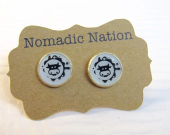 Cow Earrings- Cow Gift- Cow Accessories- Change of Command Gift- Military Gift- Military Promotion- Military Wife