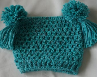 Childs Alpaca crochet hat