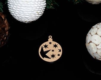 Bauble with Stars Christmas Decoration 3mm MDF
