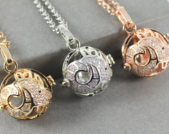Sparkles Zodiac Taurus Locket with Fillable Glass Orb, Memorial Jewellery, Memorial Locket, Cremation Jewelry, Cremation necklace
