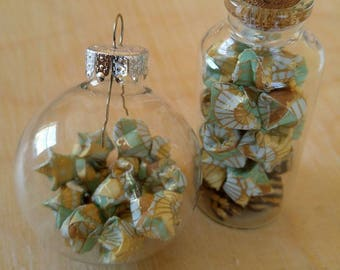 Glass with origami stars