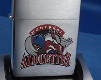 Rare 2002 Montreal Alouettes CFL Football Zippo Lighter