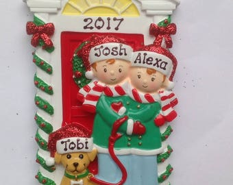 Personalized Christmas Ornament Cowboy Boots Couple Newlywed