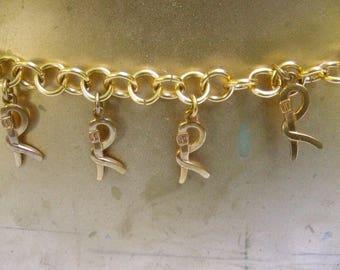 Roberta di Camerino Rare Gilt Metal R Initial Chain Belt c 1970s