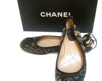 Chanel Classic Ballet Style Flats in Chanel Box Size 38.5