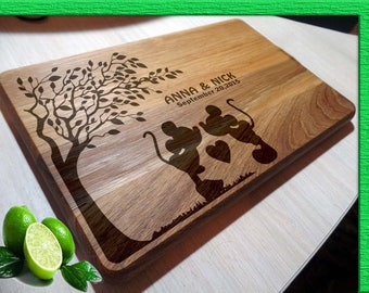 DISNEY cutting boards, Mickey Mouse cutting board, Wedding gift Disney Wedding Gift Cutting Board DISNEY wedding gift Wedding Gift L2-03-001