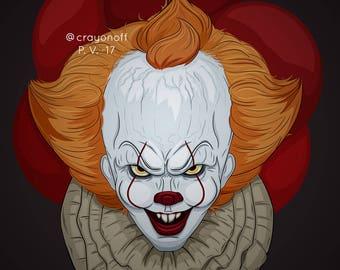 It Pennywise the Dancing clown A3, A4 and A5-prints, stickers (two sizes) and magnets