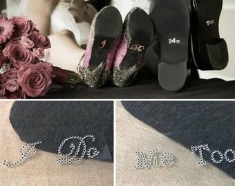 I Do, Me Too Gem Wedding Shoe Stickers