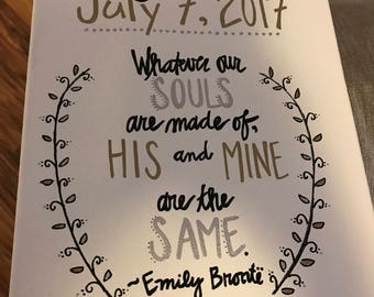 Wedding Quote Board--Emily Bronte