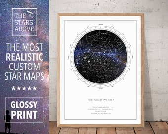 Anniversary Gift for Wife | Custom Star Map | Anniversary Gift for Women | 1st Anniversary Gift Idea | Custom Anniversary Gift | ART PRINT