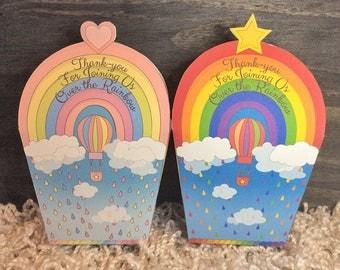 Rainbow Birthday Party Theme Favor box, Rainbow Printable