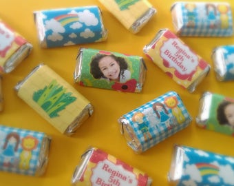 Wizard of Oz Inspired Miniature Candy Bar Wrappers