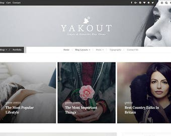 "WordPress Theme ""YAKOUT""  Shop, Portfolio"