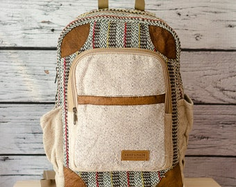 Hemp Backpack, Rucksack, Travelpack, Hipster