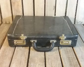 Vintage Wornout Briefcase, Decor Piece Only Both Locks Are Broken!
