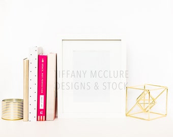 Pink and Gold Custom Frame Stock   Styled Stock Photography