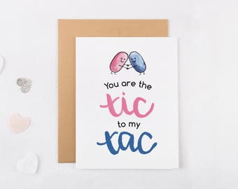 You Are The Tic To My Tac Anniversary Card - Funny Anniversary Card For Boyfriend - Anniversary Card For Husband - Funny Anniversary Card