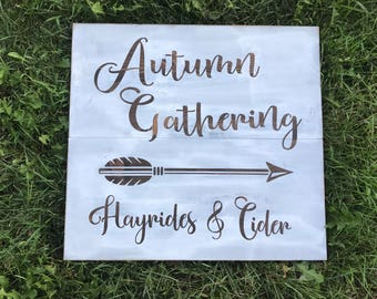Autumn Gathering Sign
