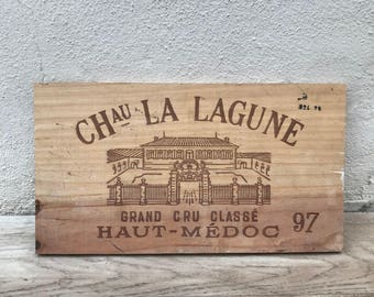 Wine Wood Crate Box Panel Antique Vintage French wall sign 17021817