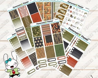 Military Weekly Planner Kit --- Planner Stickers --- For use with the Erin Condren Vertical Planner --- 03