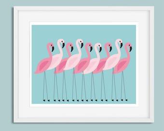 Flamingo Print, Flamingo Wall Art, Wall Art Print, Scandinavian Print, Minimalist Print, Flamingo Poster, Modern Print, Scandi Wall Art, Art