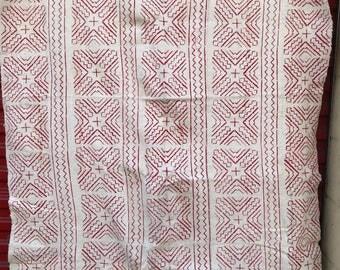 White-Pink Mudcloth