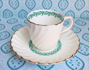Lady Rodney Minton Demitasse Tea Cup and Saucer