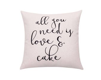Love quote pillow cover Valentines day throw pillow covers Letters decorative pillow case pillow with Words cushion cover Home decor 18x18