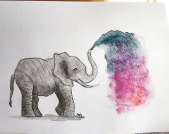 Watercolor Elefant