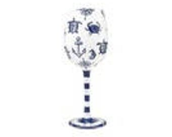 Set Sail Wine glass by Lolita