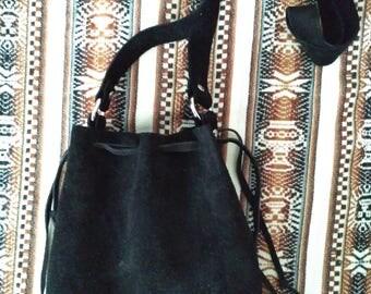 Black Suede pouch