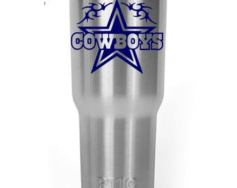 Dallas Cowboys Star Decal Sticker For Yeti RTIC Ozark Trail Rambler Tumbler Coldster Cooler