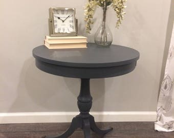 Antique Drum Table/Antique Side Table/Antique End Table/Antique Accent Table /