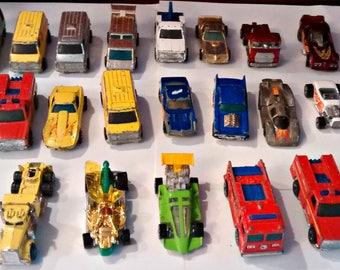 Vintage Lot Of 33 Hot Wheels Die Cast Cars 1970-1975