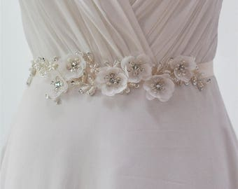 Elegant Flower Evening Party Prom Dresses Accessories Wedding Sashes Belts,Bride Waistband Bridal Belts Sashes more Colors Available