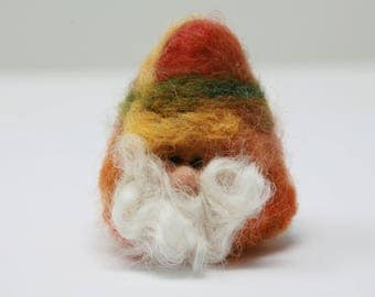 Unique Handcrafted Needle Felted Gnome Inspired by Nature
