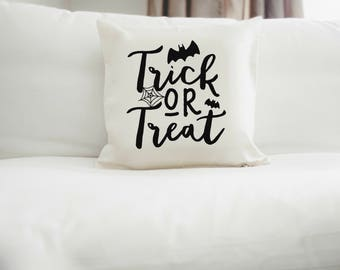 Trick or Treat Throw Pillow Cover | Halloween Pillow | Fall Home Decor | Halloween Decor | Cute halloween home decor | trick or treat