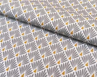 tissu ventails noir tissu japonais tissu art deco. Black Bedroom Furniture Sets. Home Design Ideas
