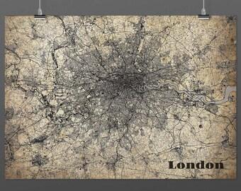 London DIN a4/din A3-Print-Vintagestyle