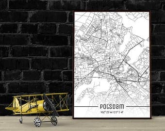 Potsdam-Just a map-din A4/A3-Print
