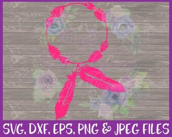 Tribal SVG, Monogram SVG, Wreath SVG, Boho Svg, Dream Catcher Svg, Monogram Frame Svg, Monogram Wreath Svg, Dxf Eps Png Jpg Digital Download