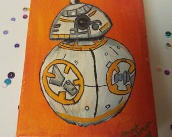 Star Wars BB-8 Acrylic Painting