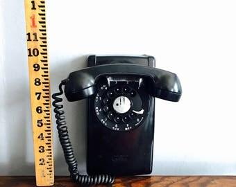 Vintage Western Electric Black Wall Phone