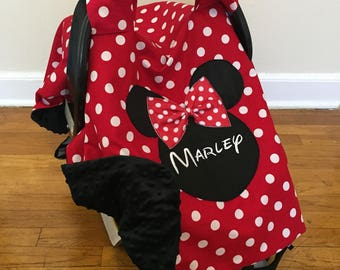 Personalized Minnie Mouse Car seat Canopy carseat canopy girl minnie mouse canopy cover & Cute carseat canopy | Etsy