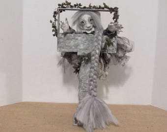 "OOAK Art Doll, ""Haunted Rapunzel"" Polymer Clay Doll, by Susan Massey"