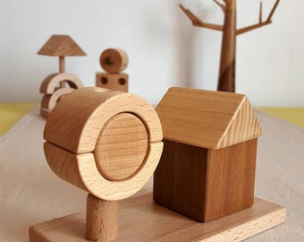 The House and tree wood natural - Mastro toys
