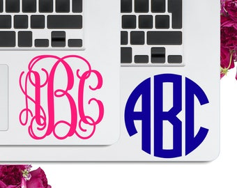 Decal for Laptop Monogram Decal, Computer Monogram Decal for Laptop Stickers for Laptop Stickers Preppy Laptop Stickers LPMG1