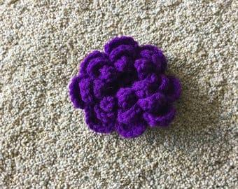 Purple crocheted pin